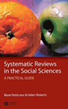Systematic Reviews in the Social Sciences: A…