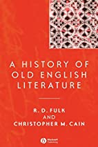 A History of Old English Literature…