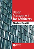 Design Management for Architects by Stephen…