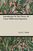 Introduction to the Theory of Linear…