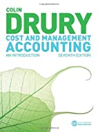 Cost and Management Accounting: An…