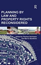 Planning by Law and Property Rights…