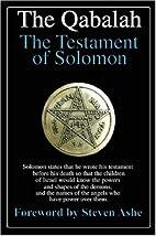 The Qabalah - The Testament of Solomon by…