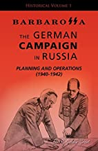 The German campaign in Russia; planning and…