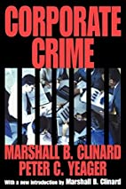 Corporate Crime (Law and Society Series) by…