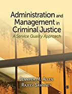 Administration and Management in Criminal…
