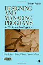 Designing and Managing Programs: An…