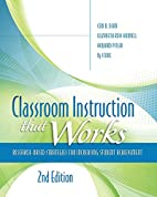 Classroom Instruction That Works:…