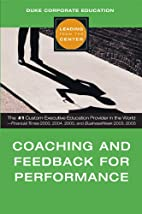 Coaching and Feedback for Performance…