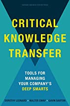 Critical Knowledge Transfer: Tools for…