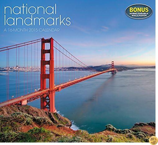 National Landmarks Wall Calendar (2015)