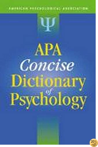 TApa Concise Dictionary of Psychology