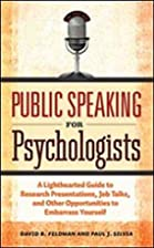 Public Speaking for Psychologists: A…