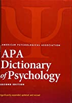 APA Dictionary of Psychology by American…