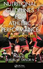 Nutritional Guidelines for Athletic…