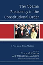 The Obama Presidency in the Constitutional…