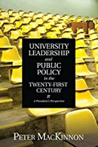 University Leadership and Public Policy in…