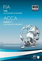 FIA Foundations of Accountant in Business…