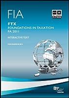 FIA - FTX foundations in taxation (United…