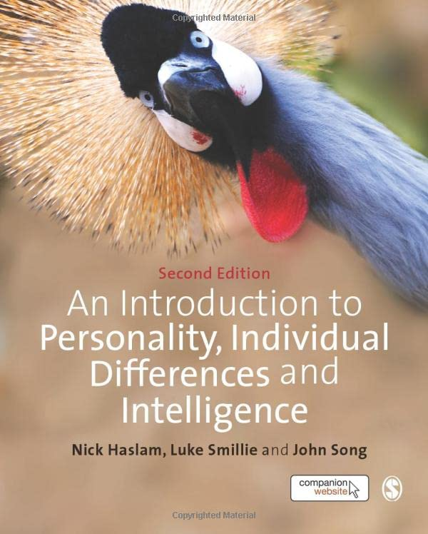 an-introduction-to-personality-individual-differences-and-intelligence-sage-foundations-of-psychology-series
