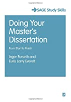 Doing Your Master's Dissertation: From…