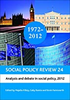 Social Policy Review 24: Analysis and Debate…