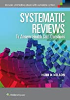 Systematic reviews to answer health care…