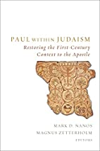 Paul within Judaism: Restoring the…