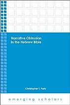 Narrative Obtrusion in the Hebrew Bible…