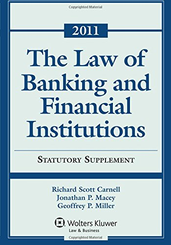 law-of-banking-financial-institutions-2011-statutory-supplement
