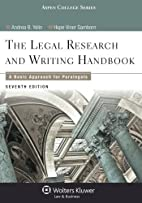 Legal Research and Writing Handbook: A Basic…