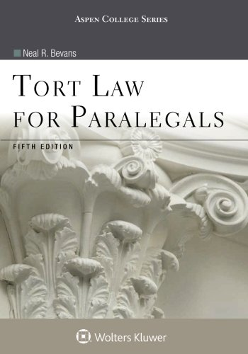 tort-law-for-paralegals-aspen-college-series