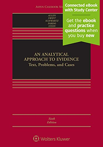 an-analytical-approach-to-evidence-text-problems-and-cases-connected-cas-aspen-cas
