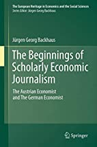 The Beginnings of Scholarly Economic…