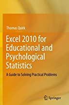 Excel 2010 for Educational and Psychological…