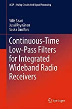 Continuous-Time Low-Pass Filters for…