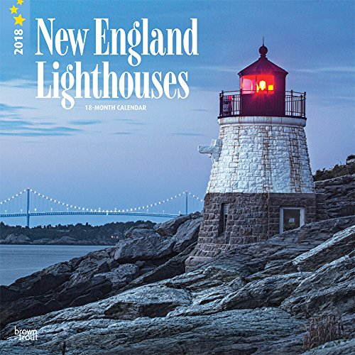 lighthouses-new-england-2018-12-x-12-inch-monthly-square-wall-calendar-usa-united-states-of-america-east-coast-scenic-nature-multilingual-edition