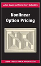 Nonlinear Option Pricing (Chapman and…