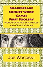 Shakespeare Sonnet Word Games First Foolery:…