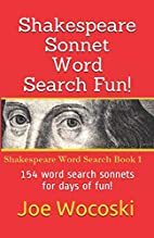 Shakespeare Sonnet Word Search Fun!: Large…