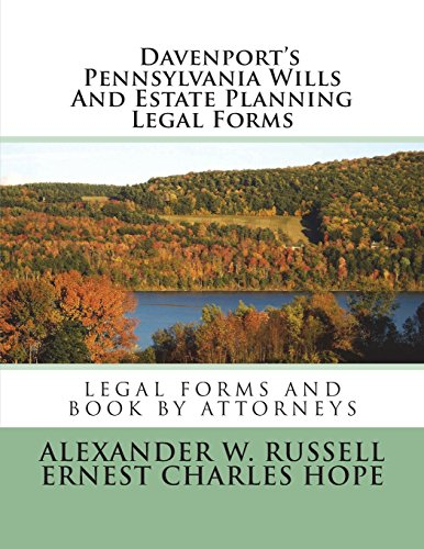 davenports-pennsylvania-wills-and-estate-planning-legal-forms-second-edition