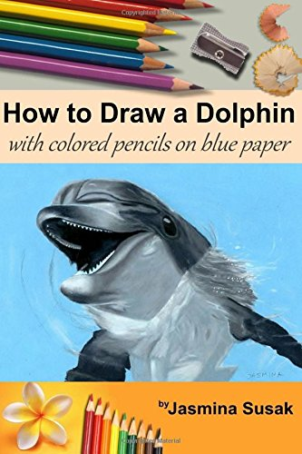 how-to-draw-a-dolphin-with-colored-pencils-on-blue-paper