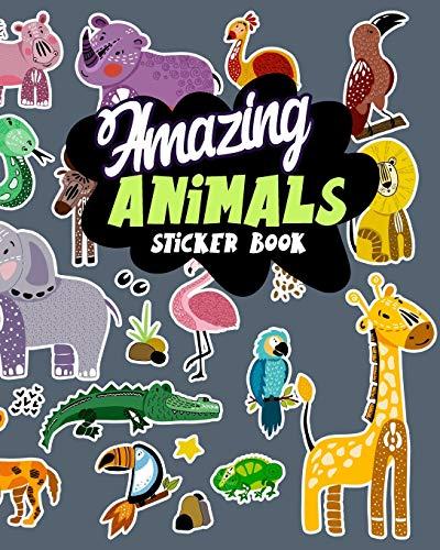 amazing-animals-sticker-book-blank-sticker-book-8-x-10-64-pages
