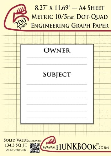 engineering-graph-paper-mc0qa-200-pages-metric-10-5mm-dot-quadrille-a4-sheet