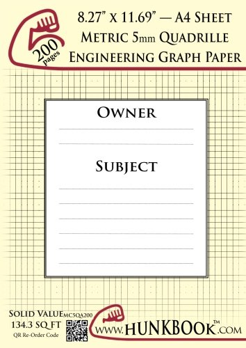 engineering-graph-paper-200pages-cream-metric-5mm-quadrille-a4-sheet