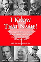 I Know That Name!: The People Behind…
