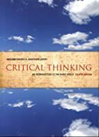 Critical Thinking: An Introduction to the…
