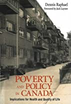 Poverty and Policy in Canada: Implications…