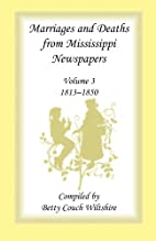Marriages and Deaths from Mississippi…