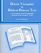 Deictic Viewpoint in the Biblical Hebrew…